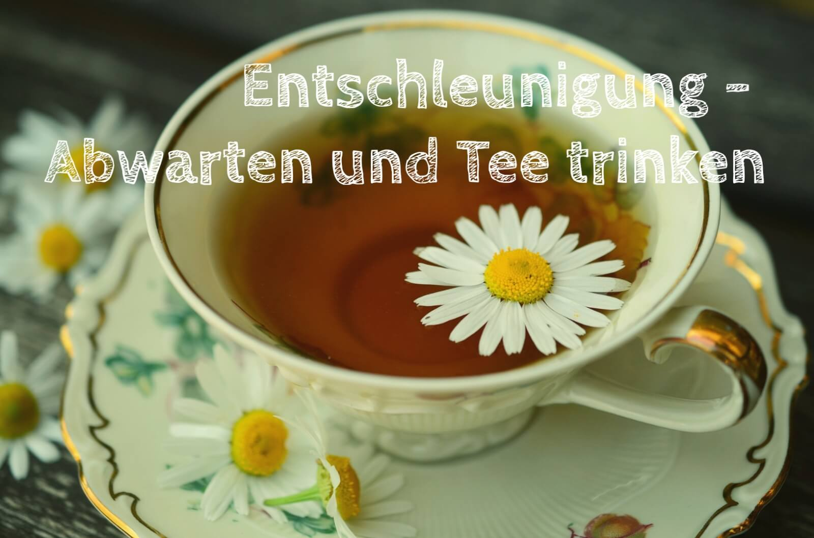 Entschleunigung – Abwarten und Tee trinken